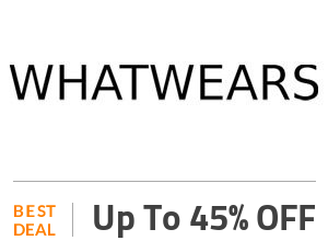 Whatwears Deal: Get Up to 45% Discount on Sale Collection Off