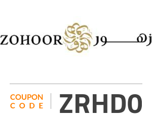 Zohoor Coupon Code: ZRHD0